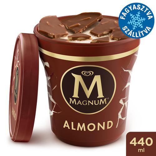 Magnum Poharas Mandula jégkrém 440ml