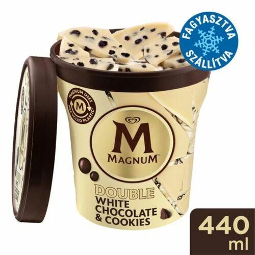 Magnum Poharas Fehér csokis kekszes jégkrém 440ml