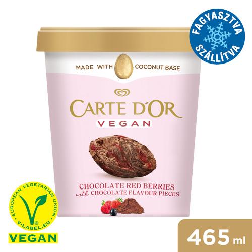 CARTE D'OR Vegán Dupla Csokoládé & Redberries jégkrém 465ml